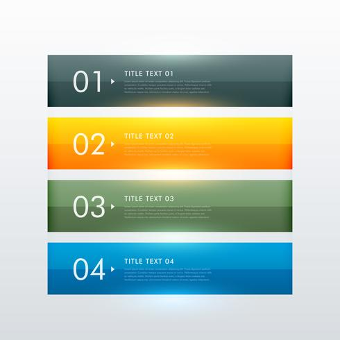 clean colorful four steps business infographic template design