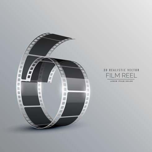 3d film reel background