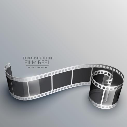 3D-camera film strip vector achtergrond