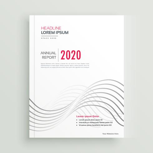 modern clean minimal style brochure or cover page design