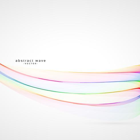 smooth soft colorful rainbow wave vector background