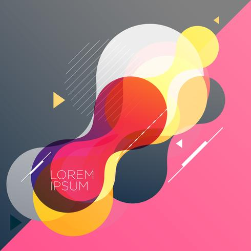 abstract background with rounded shapes vector