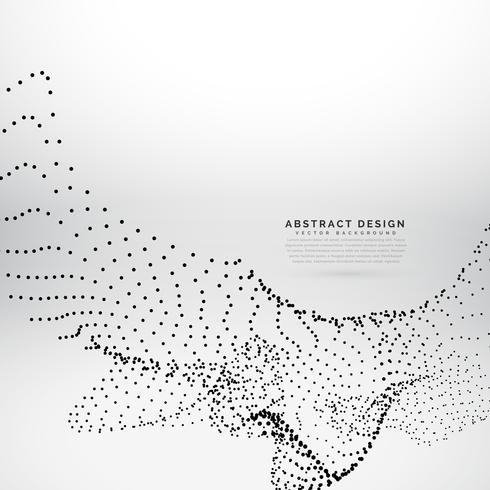 abstracte deeltjes zwaaien in digitale stijl