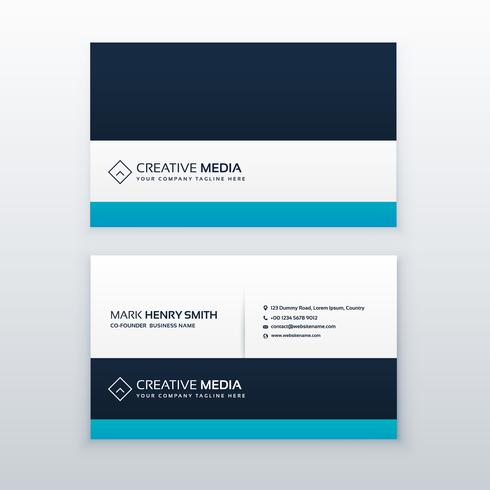 clean blue professional business card design