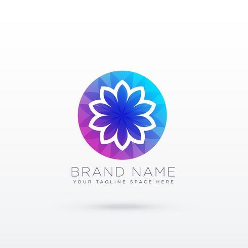 lebendiges Blumen-Logo-Design-Konzept