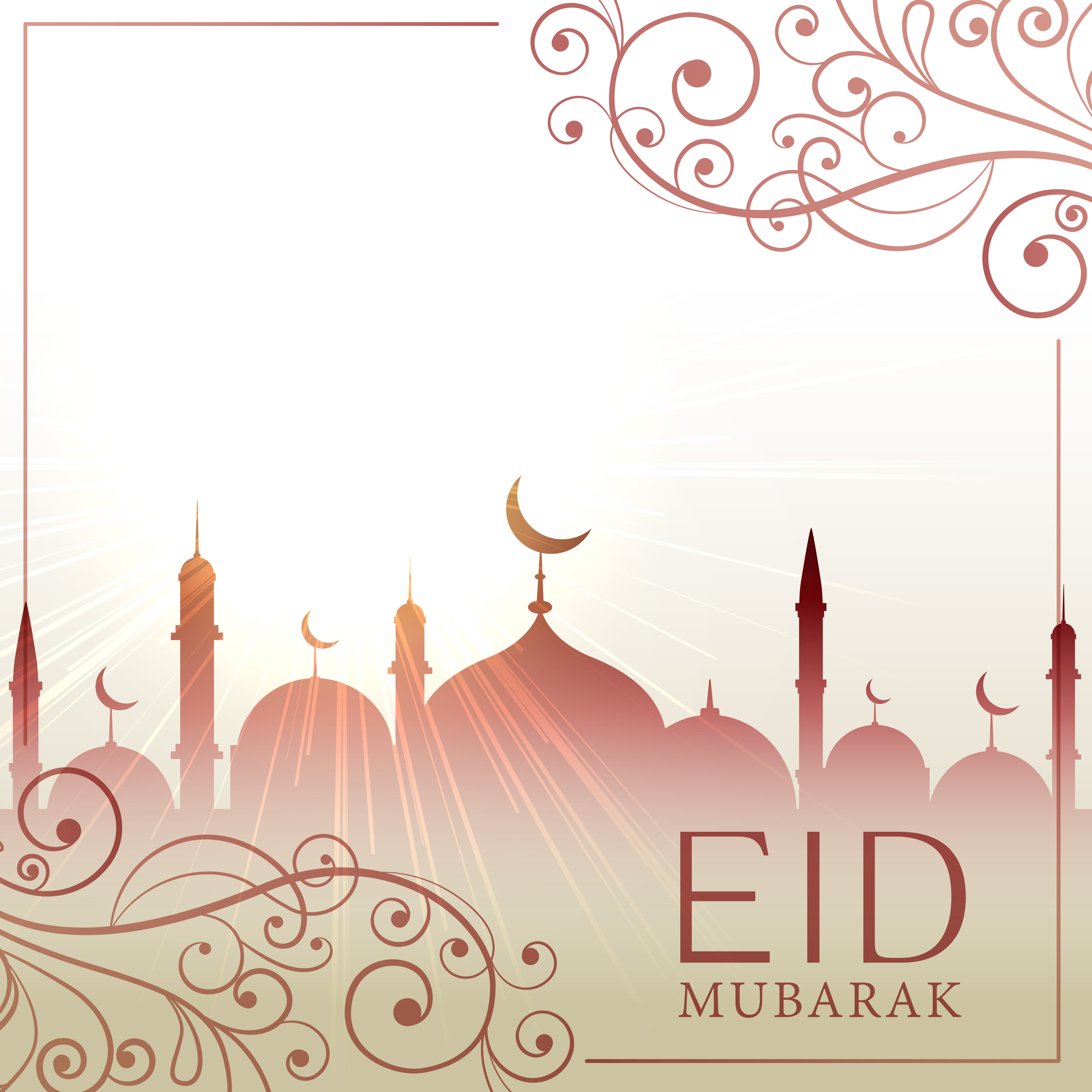 eid festival greeting card besutiful background with ...