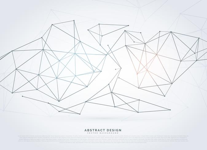 modern wireframe network background in digital style