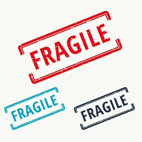 fragile rubber stamp in vector