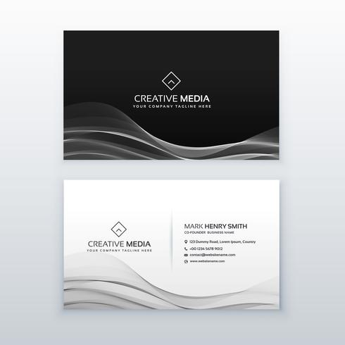 dark business card template design