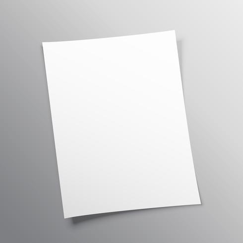 conception de vecteur de maquette de papier vierge
