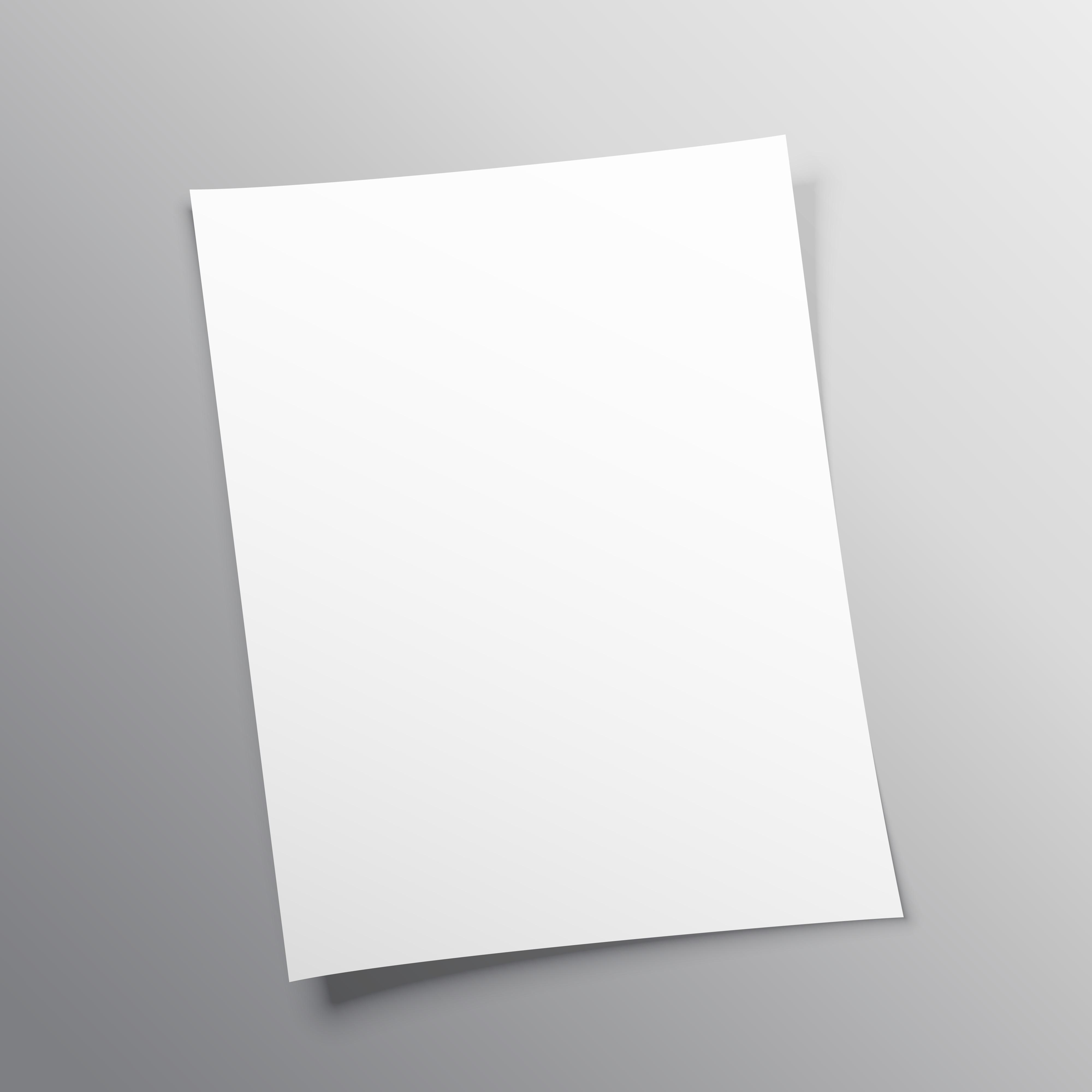 Blank Paper Free Vector Art