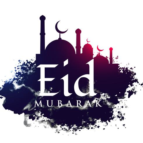 mosque shape in grunge background for eid festival