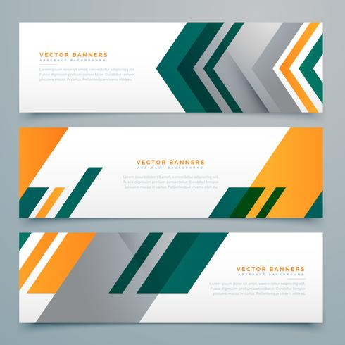geometric business banner design set
