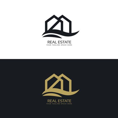 elegant house logo design template