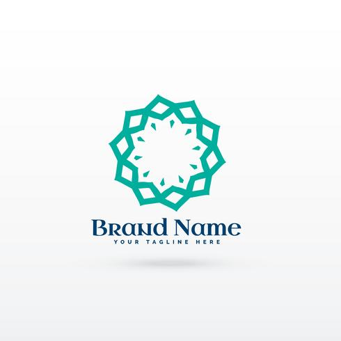 abstract line mandala style logo concept design