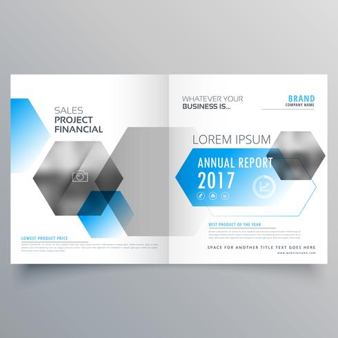 modern creative business cover page template with abstract geome