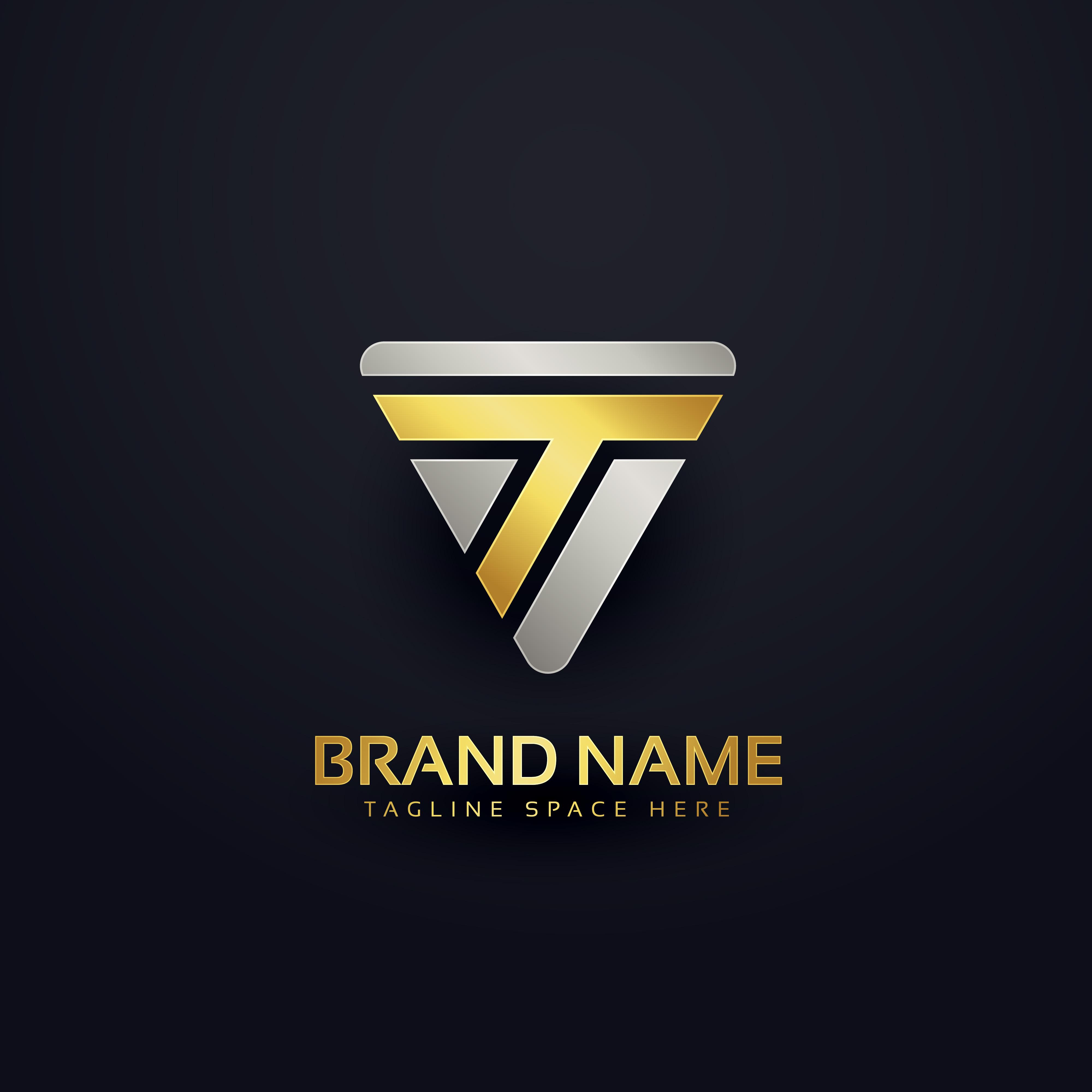 creative letter t logo concept design download free