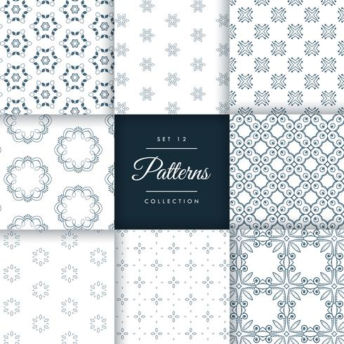 abstract pattern set of 8 different styles