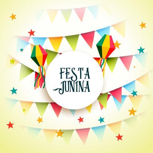 june party festa junina celebration greeting background