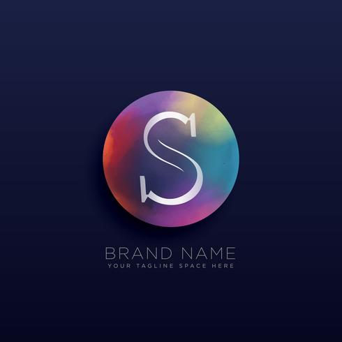 letter S abstract logo concept template