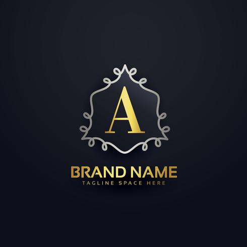 creative letter A logo template monogram