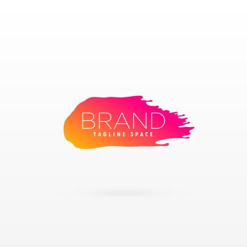 símbolo de traçado de pincel limpo na cor bonita para o logotipo da marca