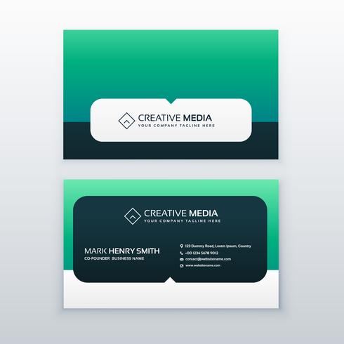 modern company business card vector design
