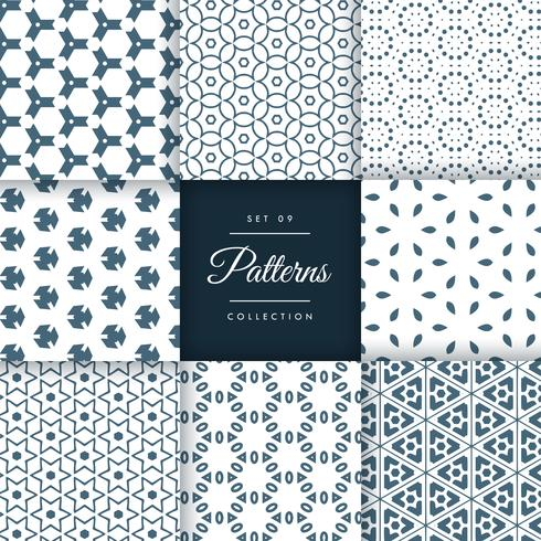 amazing set of abstract patterns in floral style. Patterns colle