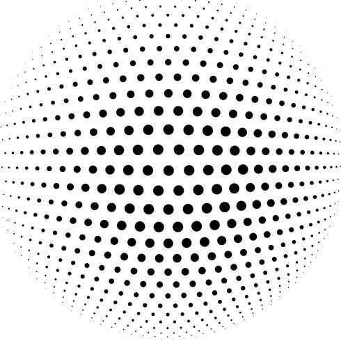 abstract halftone sphere vector background