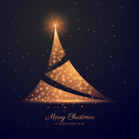beautiful dark background with creative christmas tree design