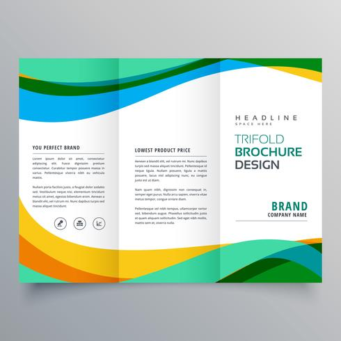 creative trifold business brochure design template