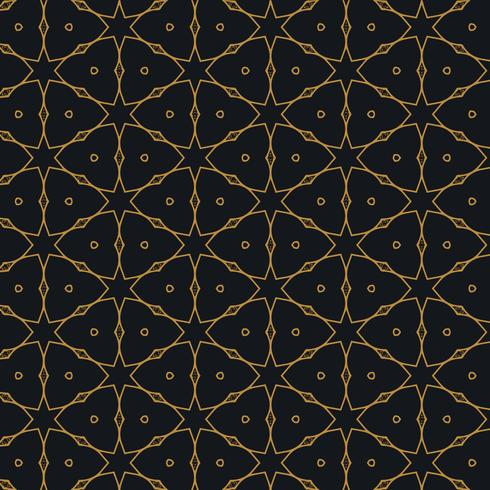 islamic pattern design in black background