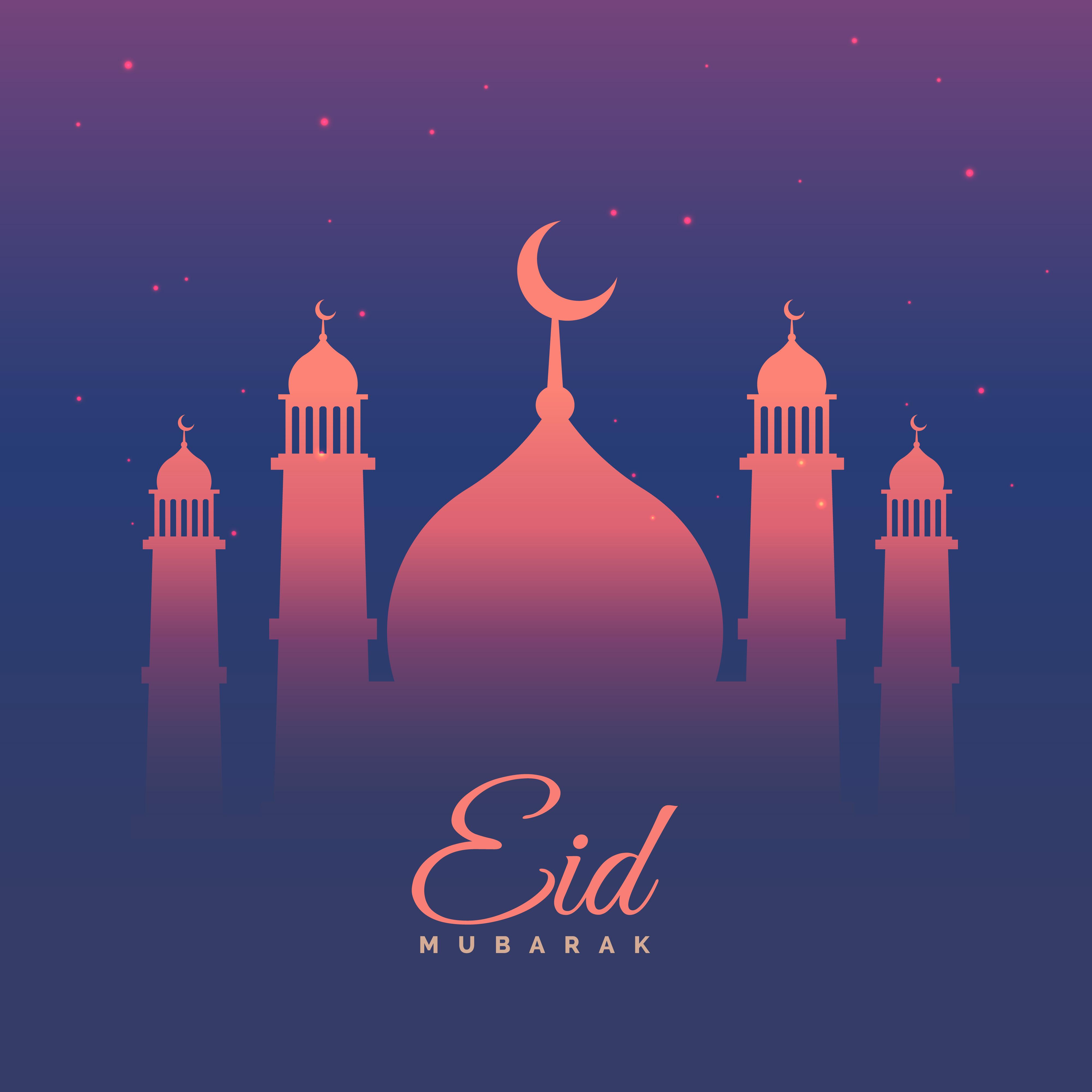 eid mubarak festival greeting in purple theme  download