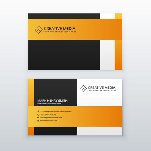 professional yellow and black business card design template for