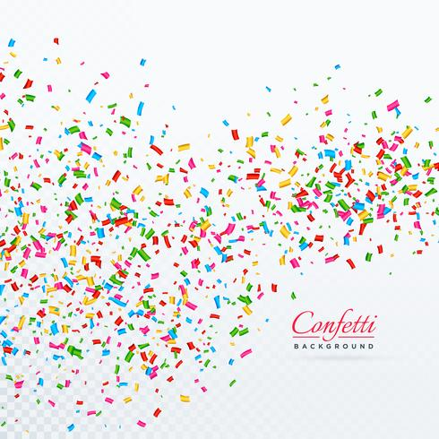 colroful confetti and ribbons falling vector background