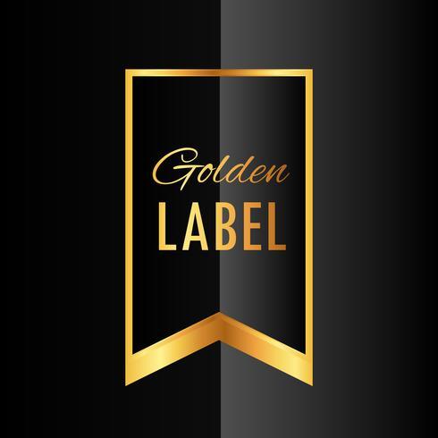 premium golden ribbon label vector design
