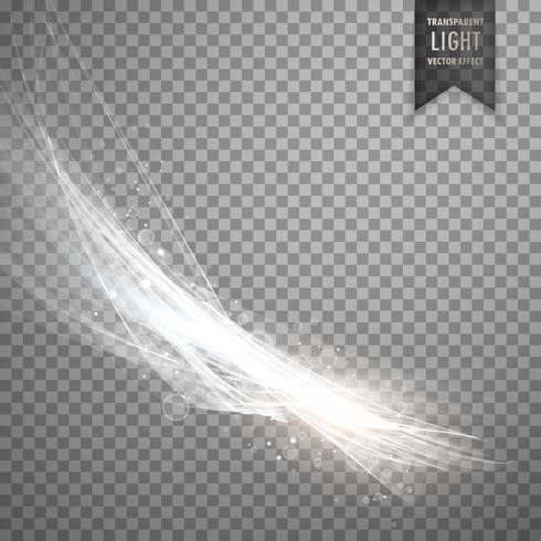 transparant lichteffect achtergrond in witte kleur