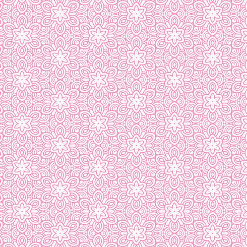 pink flower line pattern background
