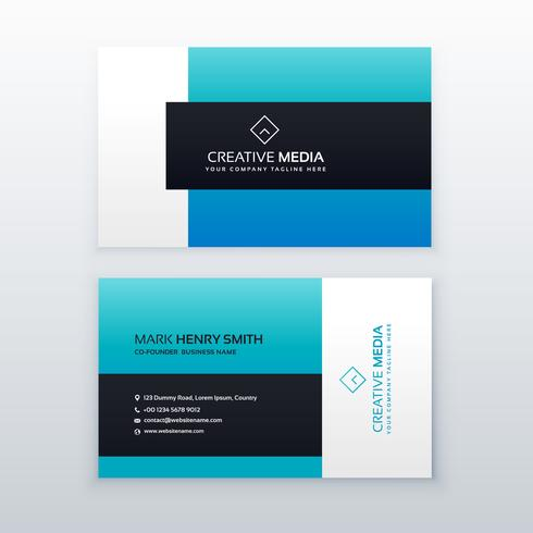 elegant blue business card design template