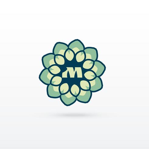 beautiful flower or mandala style logo design
