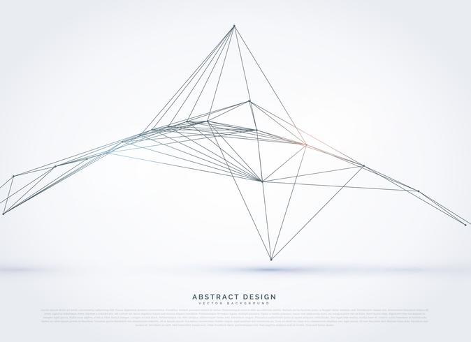 digitale lijnen waireframe netwerkachtergrond