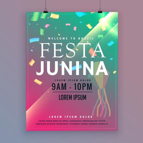 festa junina flyer template for brazilian festival