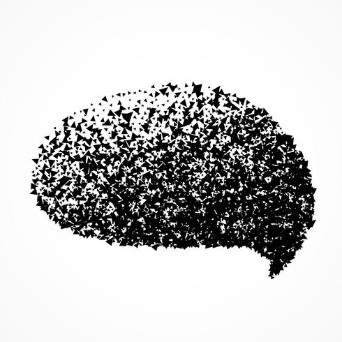 chat bubble in abstract particles style