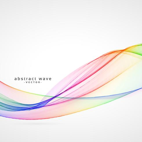 abstract colorful smoke wave background