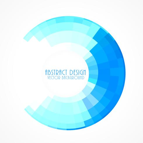 blue circular frame in mosaic style background