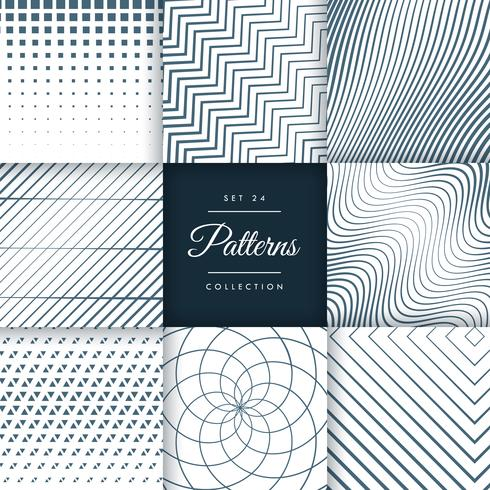 abstract line pattern collection background