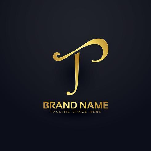 elegant letter T logo design with swirl effect