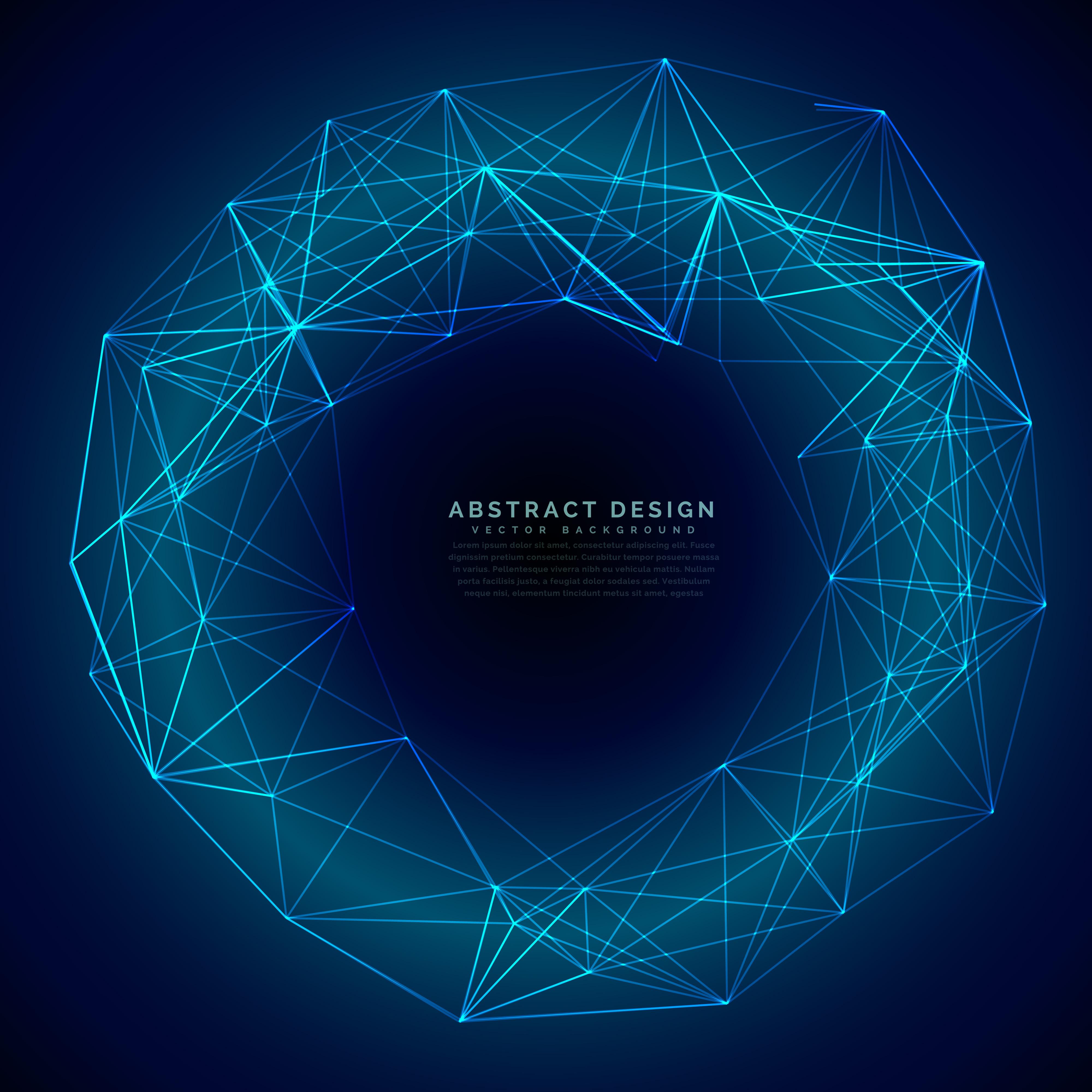 Blue Technology: Blue Digital Futuristic Technology Mesh Background