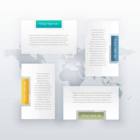 four steps infographic template design
