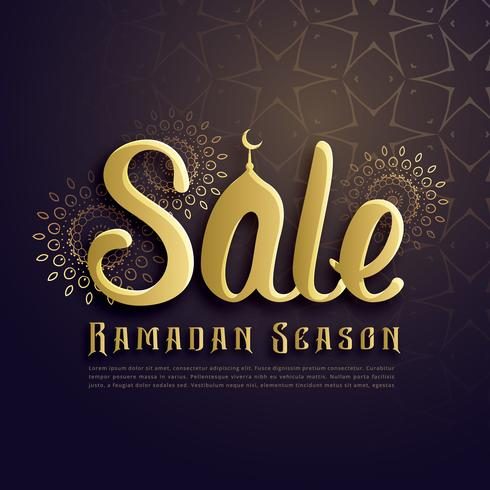ramadan season sale poster design in islamic style